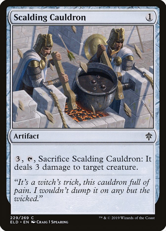 Carta Caldeirão Escaldante/Scalding Cauldron de Magic the Gathering