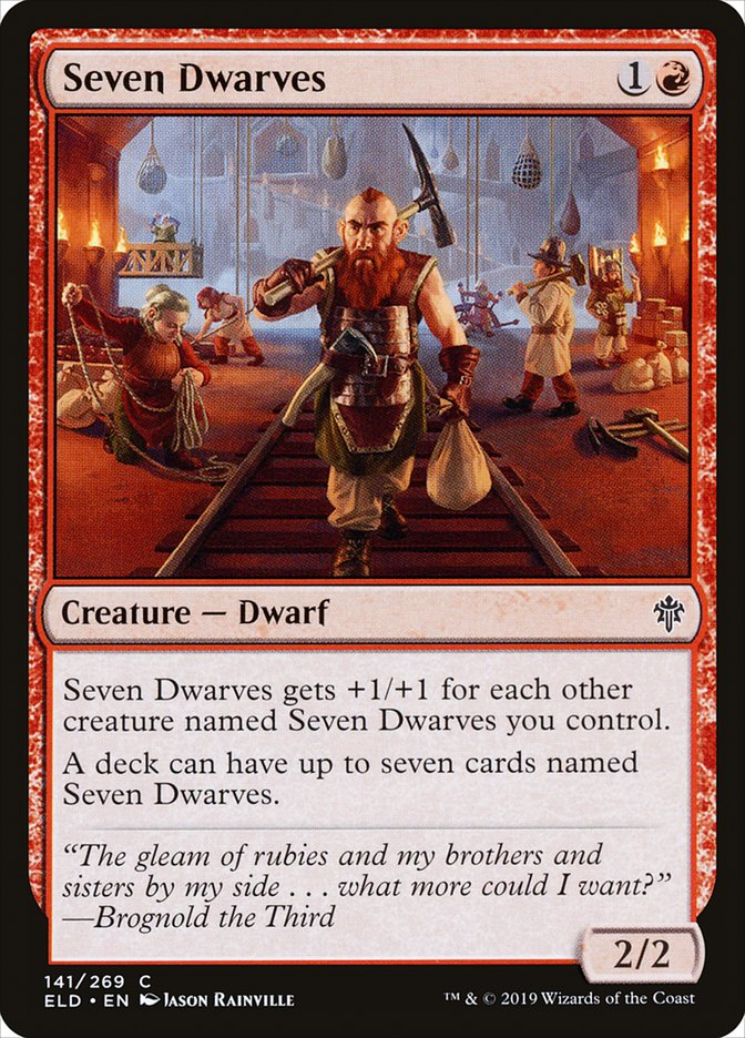 Carta Sete Anões/Seven Dwarves de Magic the Gathering
