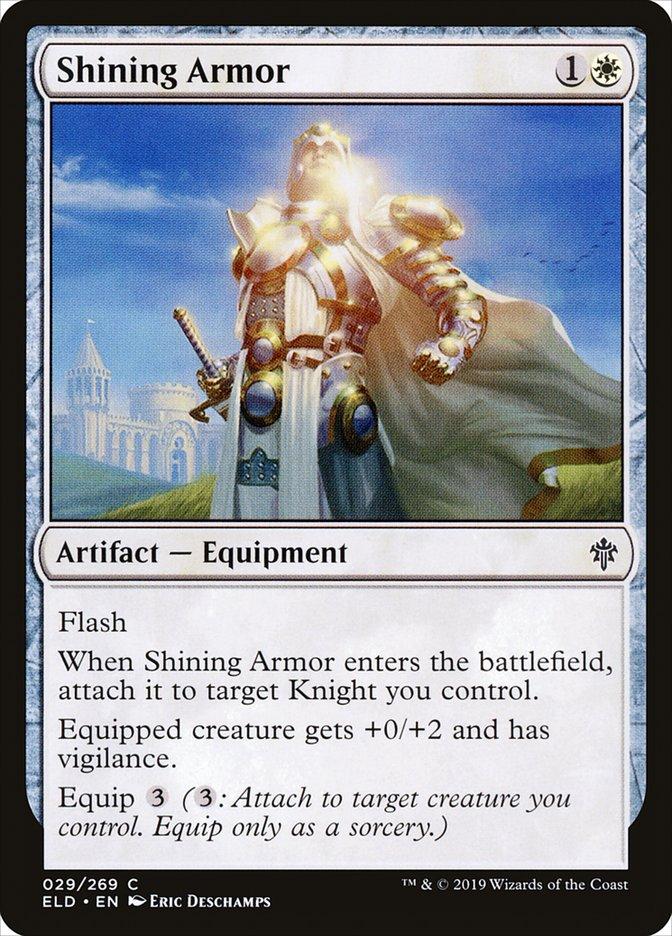 Carta Armadura Brilhante/Shining Armor de Magic the Gathering