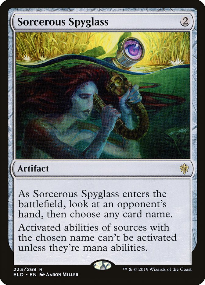 Carta Luneta Enfeitiçada/Sorcerous Spyglass de Magic the Gathering