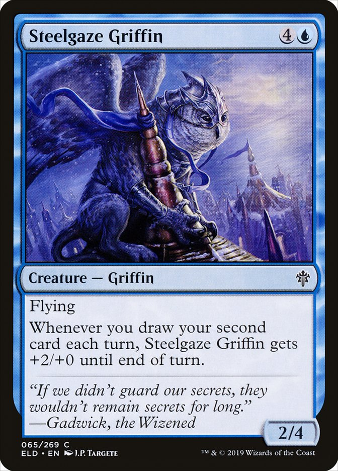 Carta Grifo Olhar-de-aço/Steelgaze Griffin de Magic the Gathering