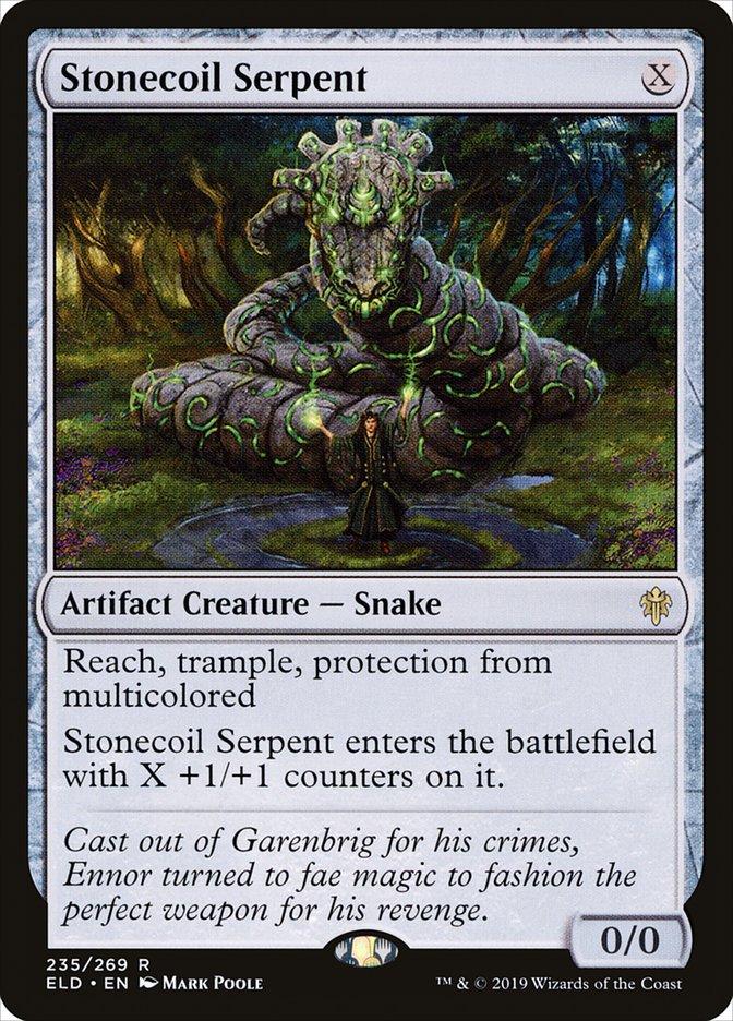 Carta Serpente Litoespiral/Stonecoil Serpent de Magic the Gathering