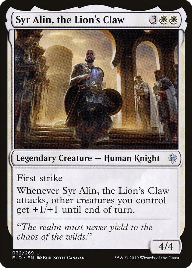 Carta Syr Alin, a Garra do Leão/Syr Alin, the Lion's Claw de Magic the Gathering