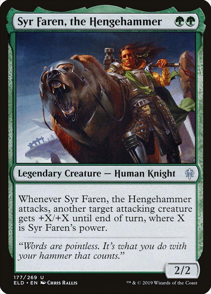 Carta Syr Faren, Martelo do Círculo/Syr Faren, the Hengehammer de Magic the Gathering