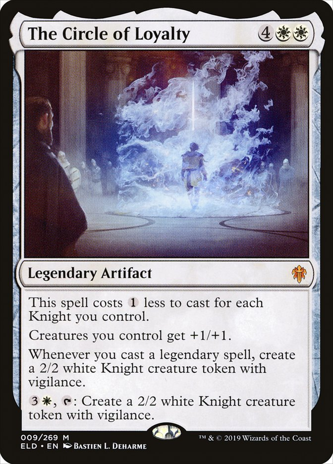 Carta A Roda da Lealdade/The Circle of Loyalty de Magic the Gathering