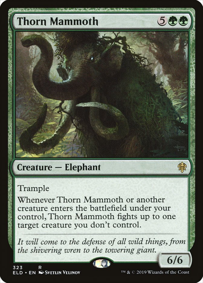 Carta Thorn Mammoth/Thorn Mammoth de Magic the Gathering