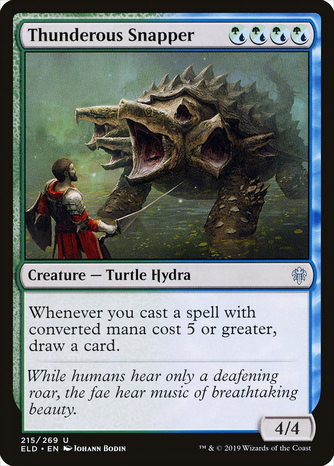 Carta Abocanhador Trovejante/Thunderous Snapper de Magic the Gathering