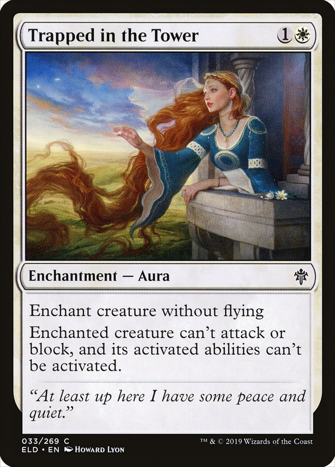 Carta Aprisionada na Torre/Trapped in the Tower de Magic the Gathering