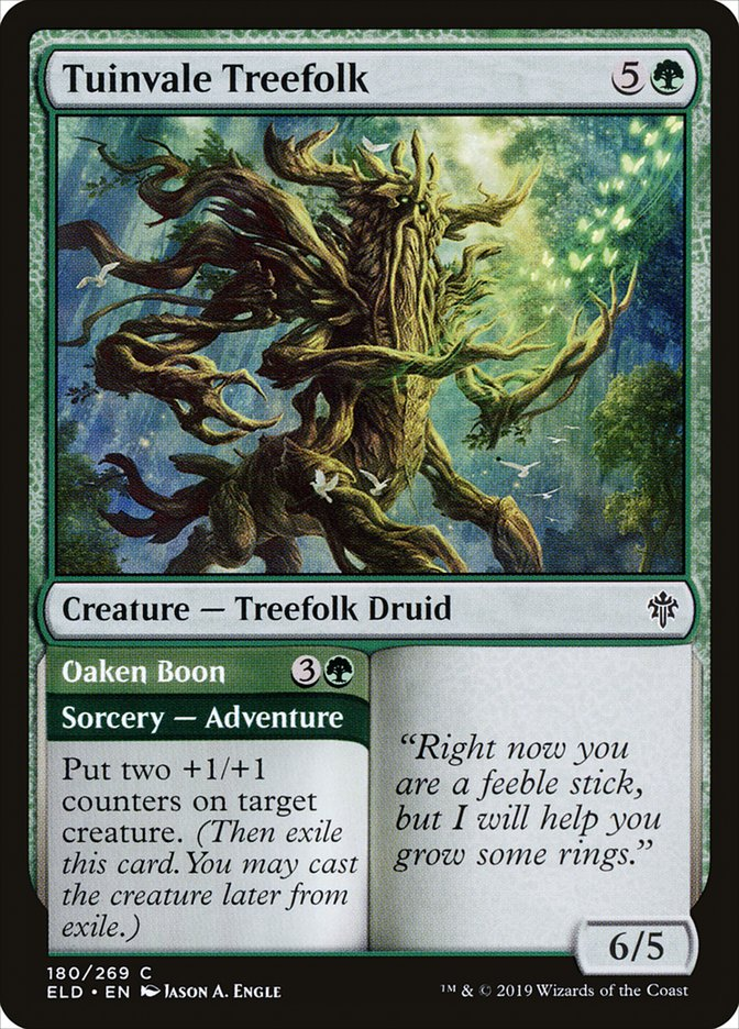 Carta /Tuinvale Treefolk de Magic the Gathering