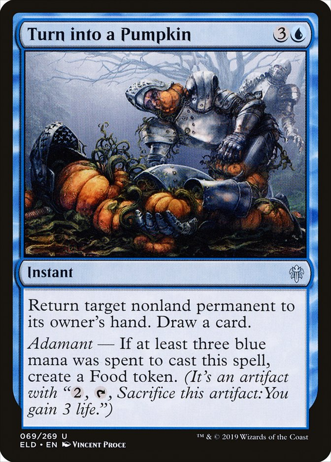 Carta Virar Abóbora/Turn into a Pumpkin de Magic the Gathering