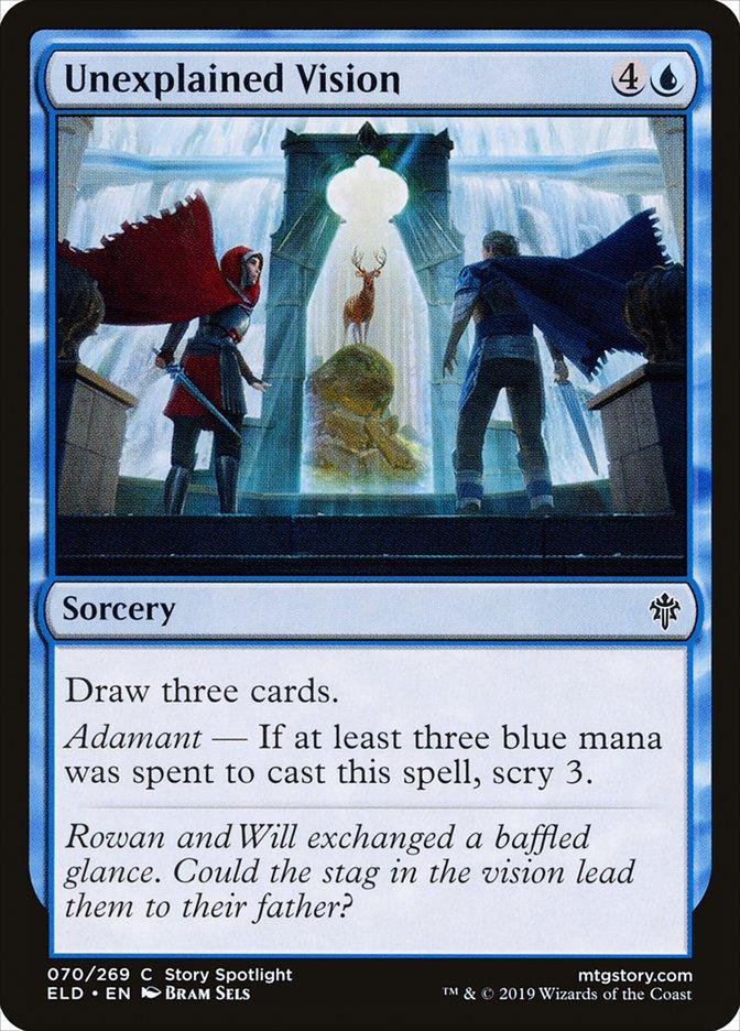 Carta Visão Inexplicável/Unexplained Vision de Magic the Gathering
