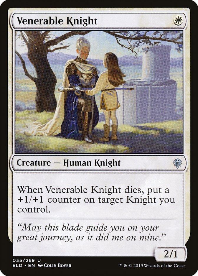 Carta Cavaleira Venerável/Venerable Knight de Magic the Gathering