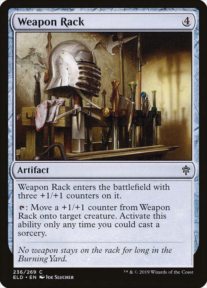 Carta Cavalete de Armas/Weapon Rack de Magic the Gathering