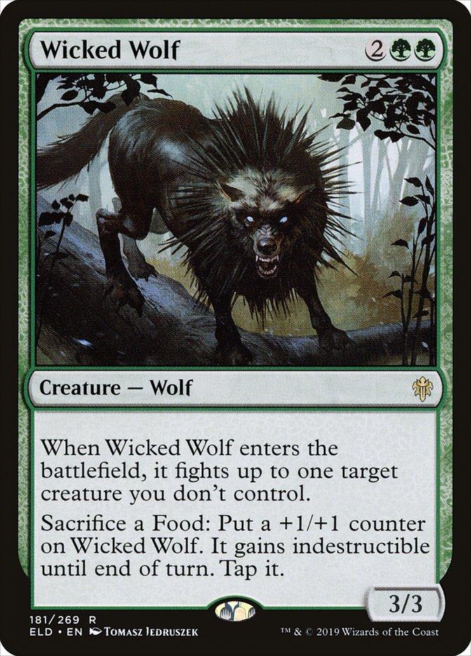Carta Lobo Mau/Wicked Wolf de Magic the Gathering