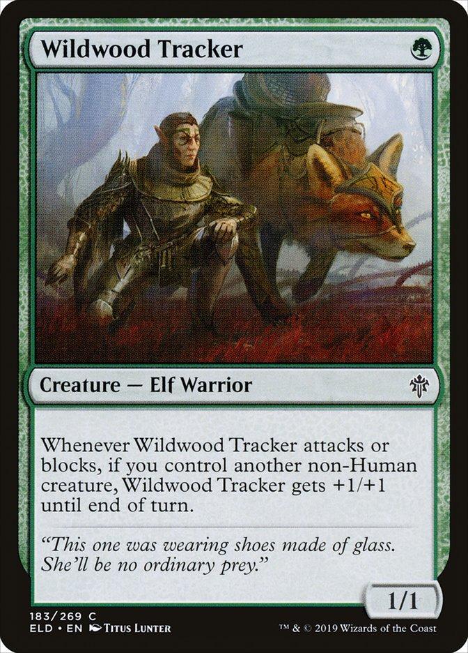 Carta Rastreador do Bosque Selvagem/Wildwood Tracker de Magic the Gathering