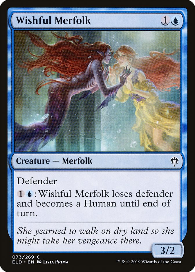 Carta Tritã Desejosa/Wishful Merfolk de Magic the Gathering