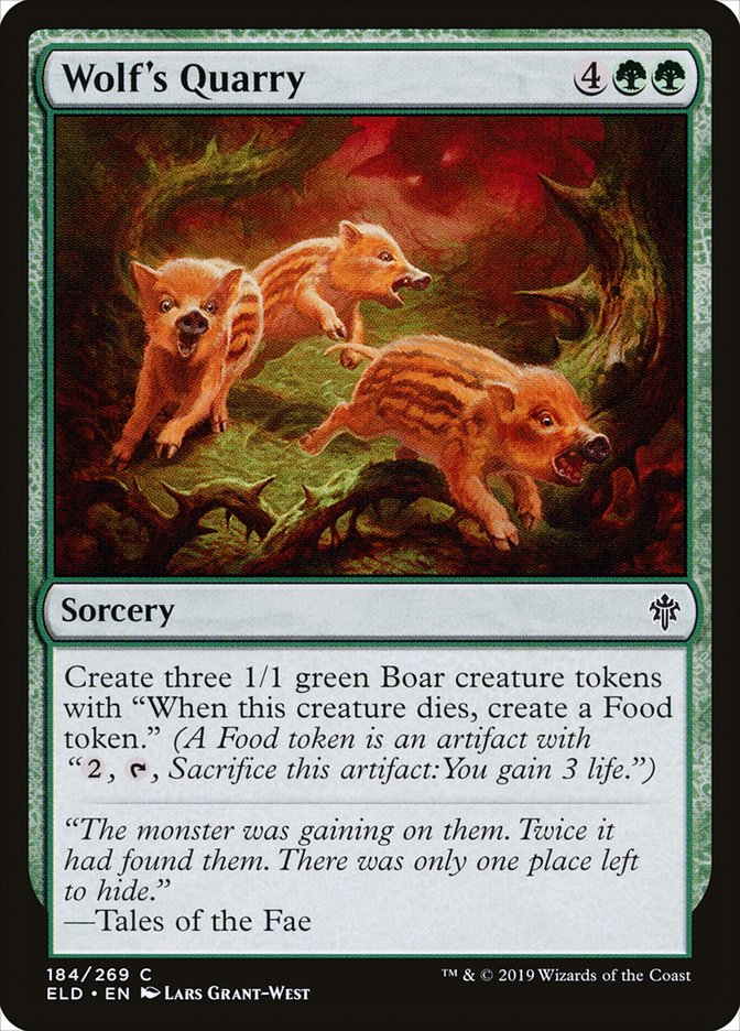 Carta Presas do Lobo/Wolf's Quarry de Magic the Gathering