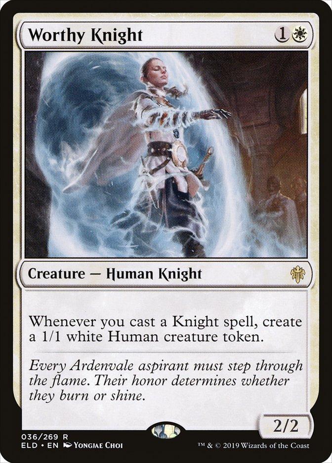 Carta Cavaleira Digna/Worthy Knight de Magic the Gathering