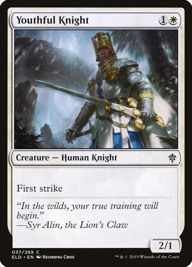 Carta Jovem Cavaleiro/Youthful Knight de Magic the Gathering