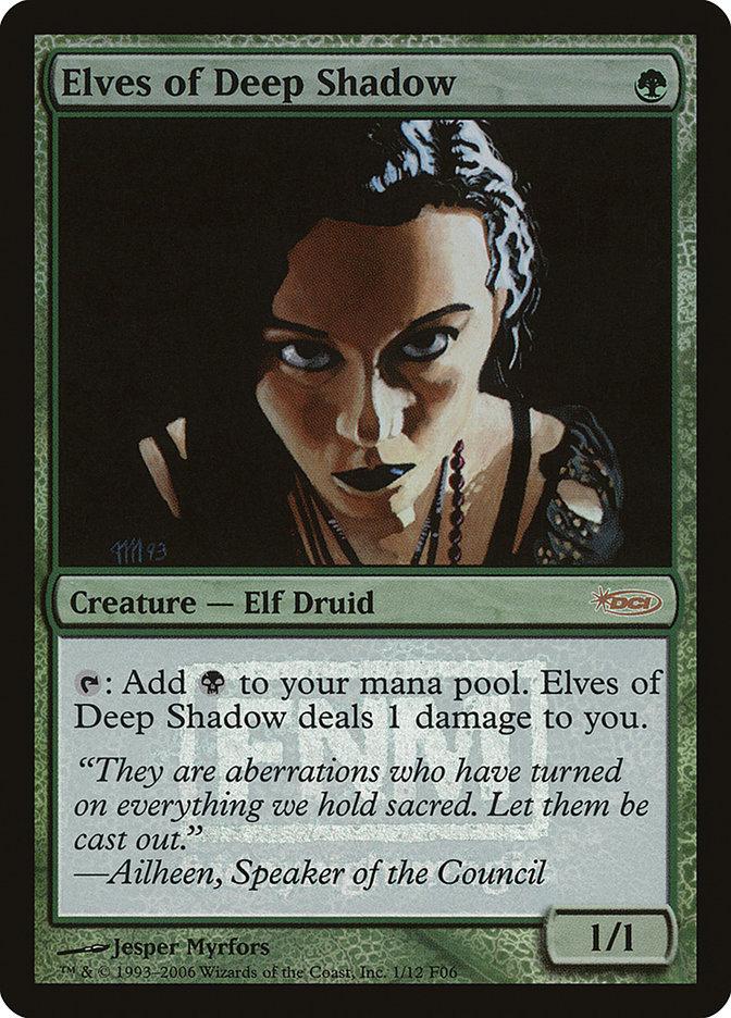 Carta Elfos das Sombras Profundas/Elves of Deep Shadow de Magic the Gathering