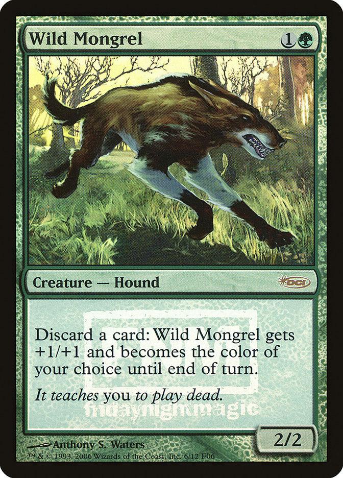 Carta Mestiços Selvagens/Wild Mongrel de Magic the Gathering