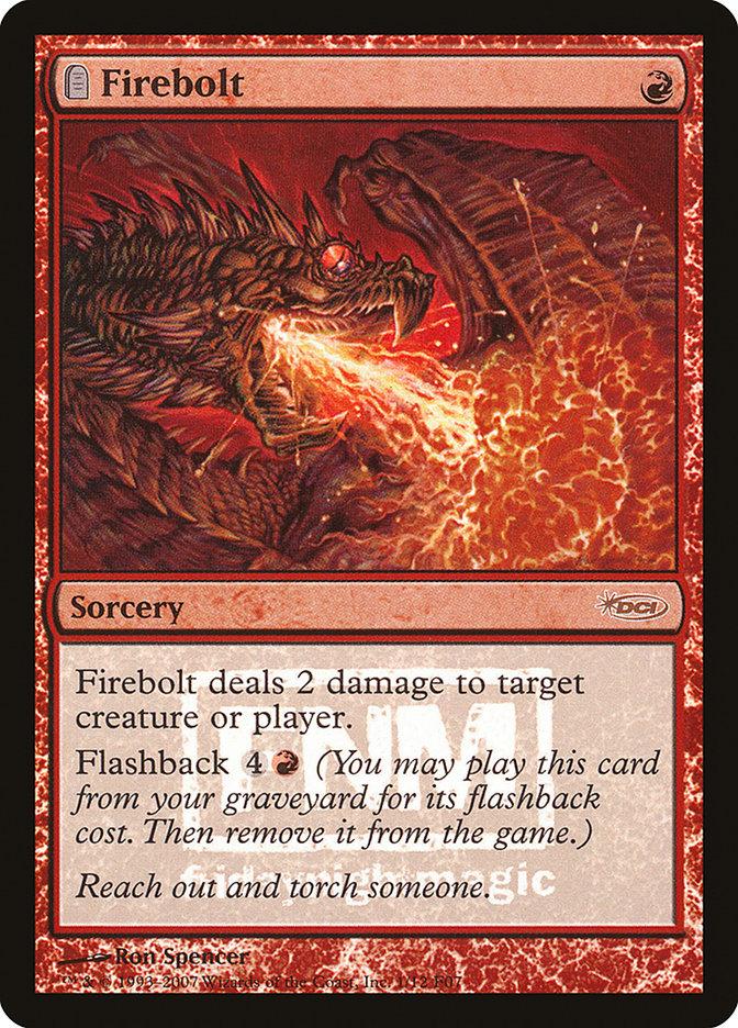 Carta Raio de Fogo/Firebolt de Magic the Gathering