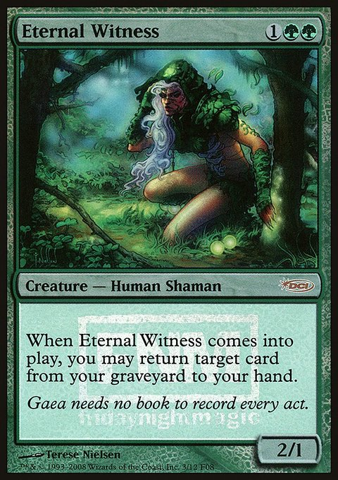 Carta Testemunha Eterna/Eternal Witness de Magic the Gathering