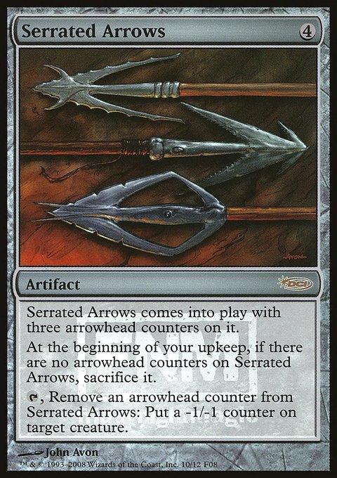 Carta Flechas Denteadas/Serrated Arrows de Magic the Gathering