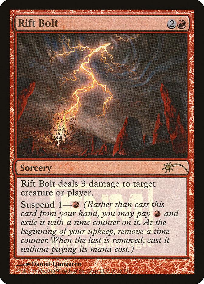 Carta Raio da Fenda/Rift Bolt de Magic the Gathering
