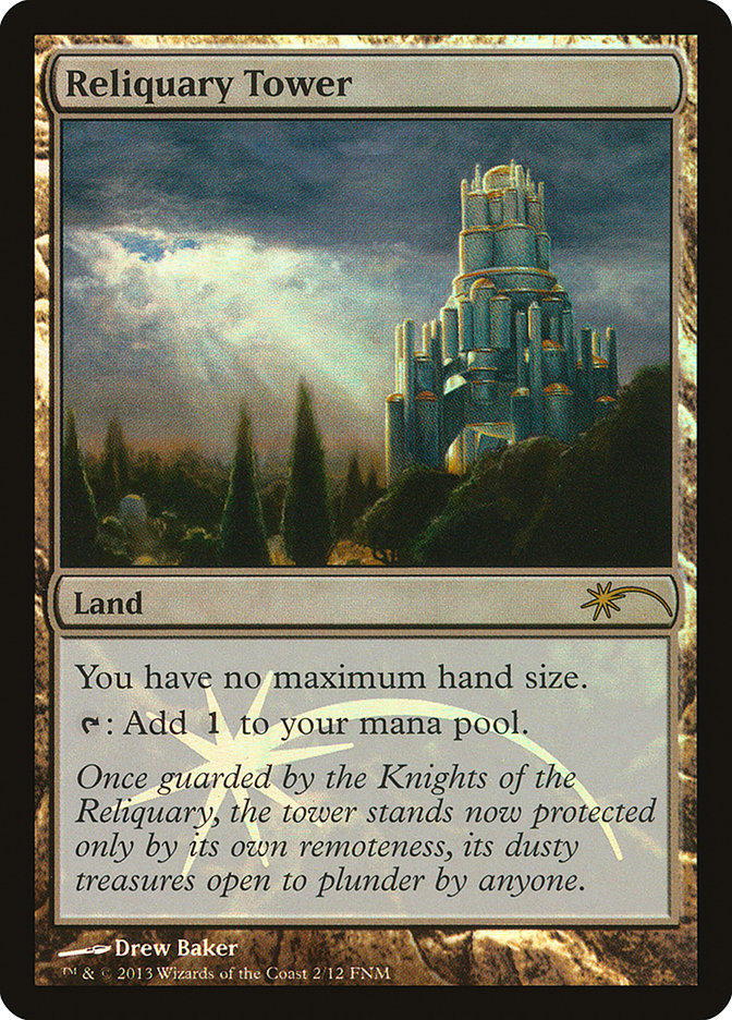 Carta Torre do Relicário/Reliquary Tower de Magic the Gathering