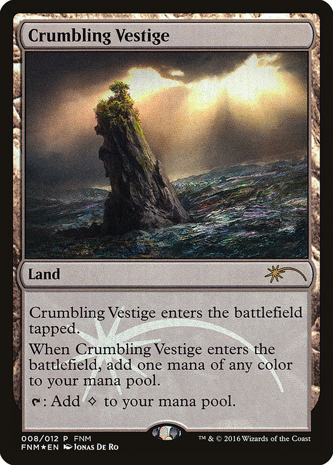 Carta Vestígio Desmoronante/Crumbling Vestige de Magic the Gathering