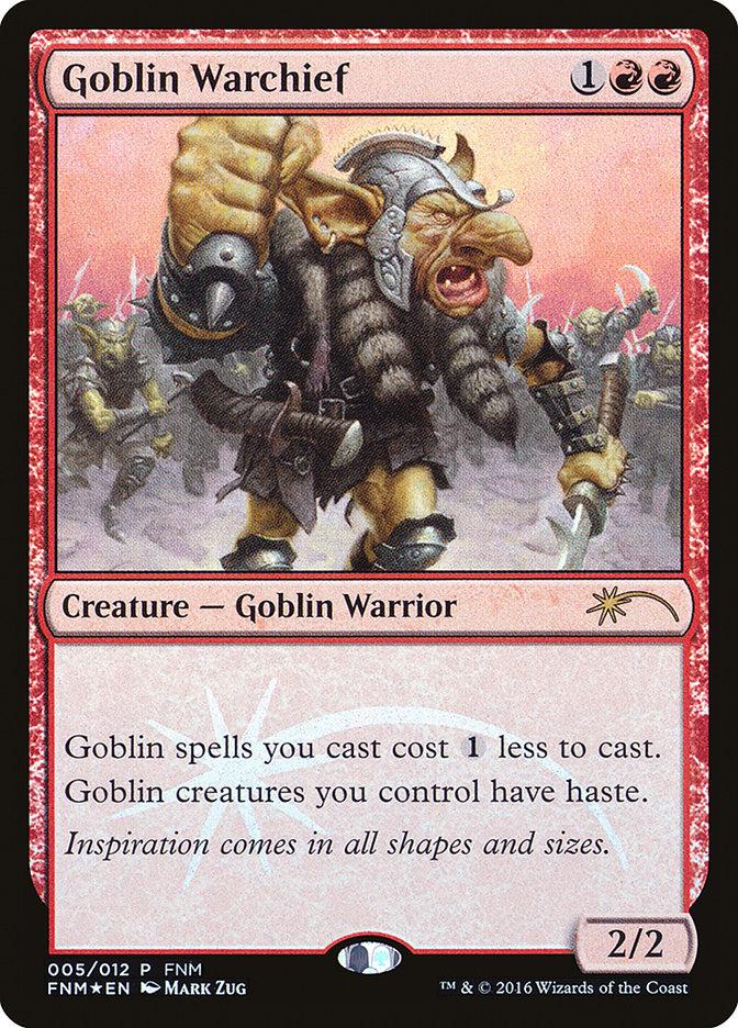 Carta Comandante de Guerra Goblin/Goblin Warchief de Magic the Gathering