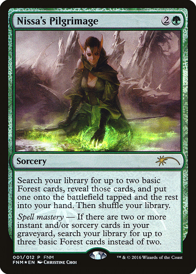 Carta Peregrinação de Nissa/Nissa's Pilgrimage de Magic the Gathering