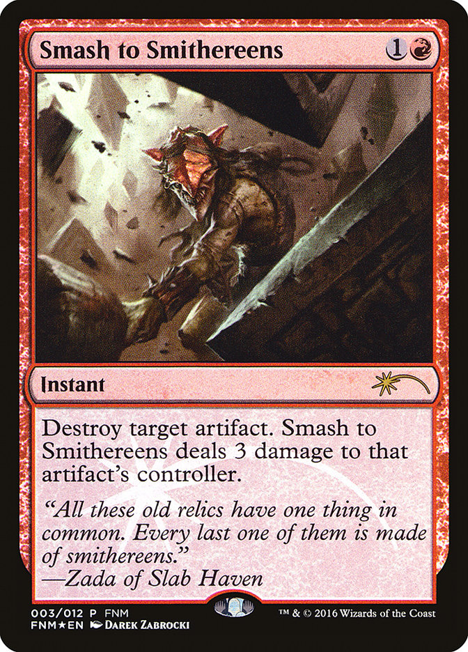 Carta Reduzir a Cacos/Smash to Smithereens de Magic the Gathering