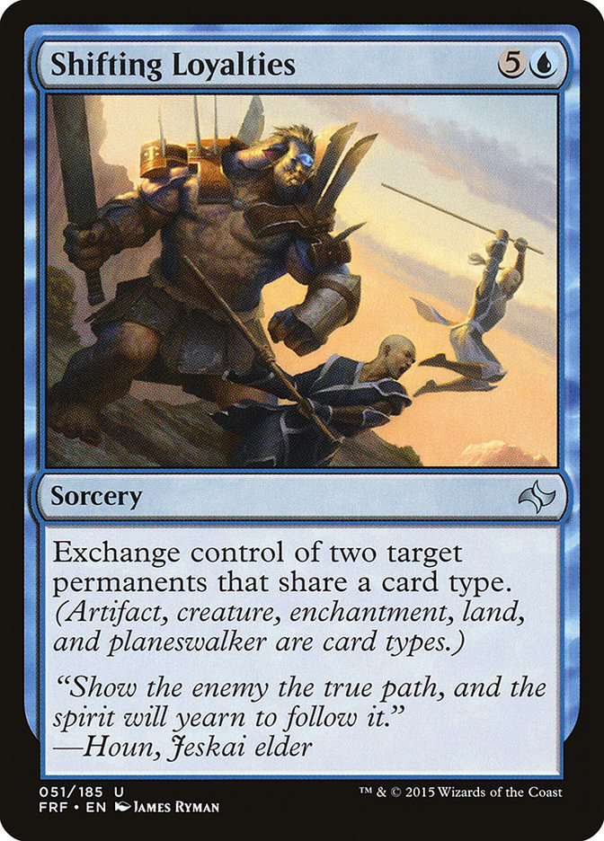 Carta Lealdades Mutáveis/Shifting Loyalties de Magic the Gathering