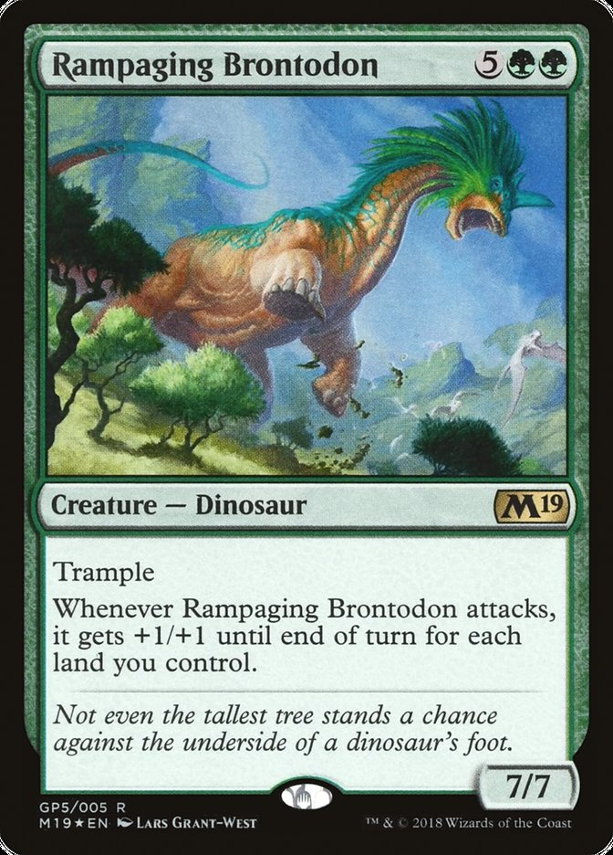 Carta Rampaging Brontodon/Rampaging Brontodon de Magic the Gathering