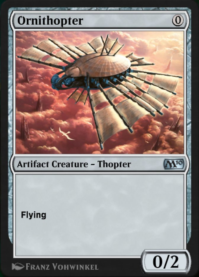 Carta Ornitóptero/Ornithopter de Magic the Gathering