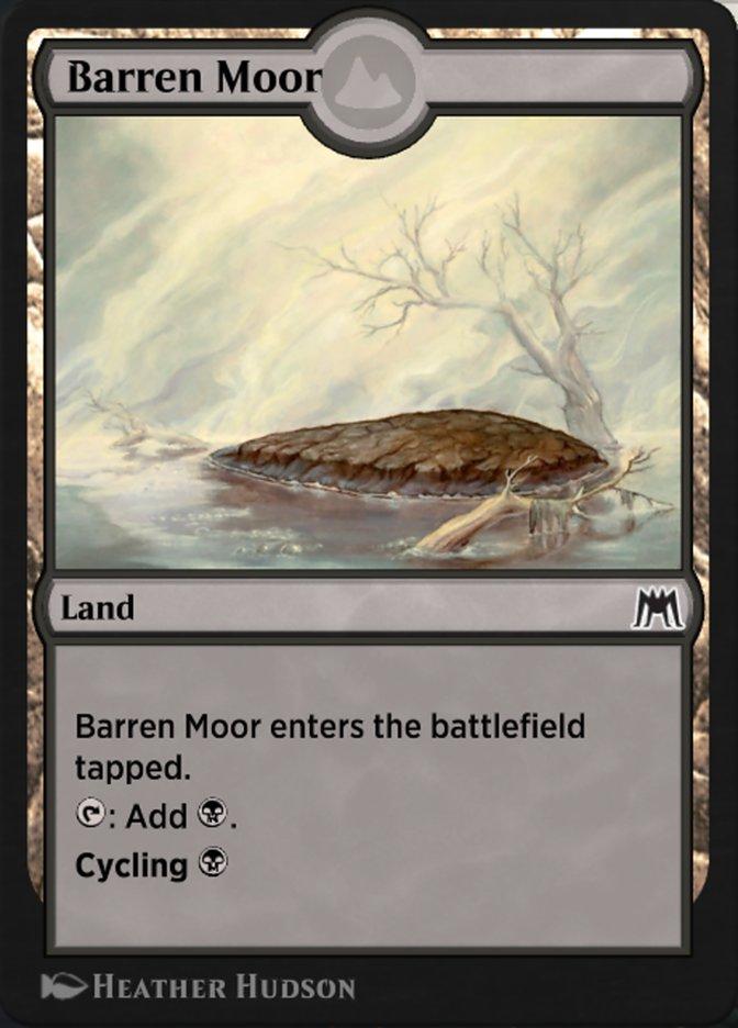 Carta Charneca Estéril/Barren Moor de Magic the Gathering