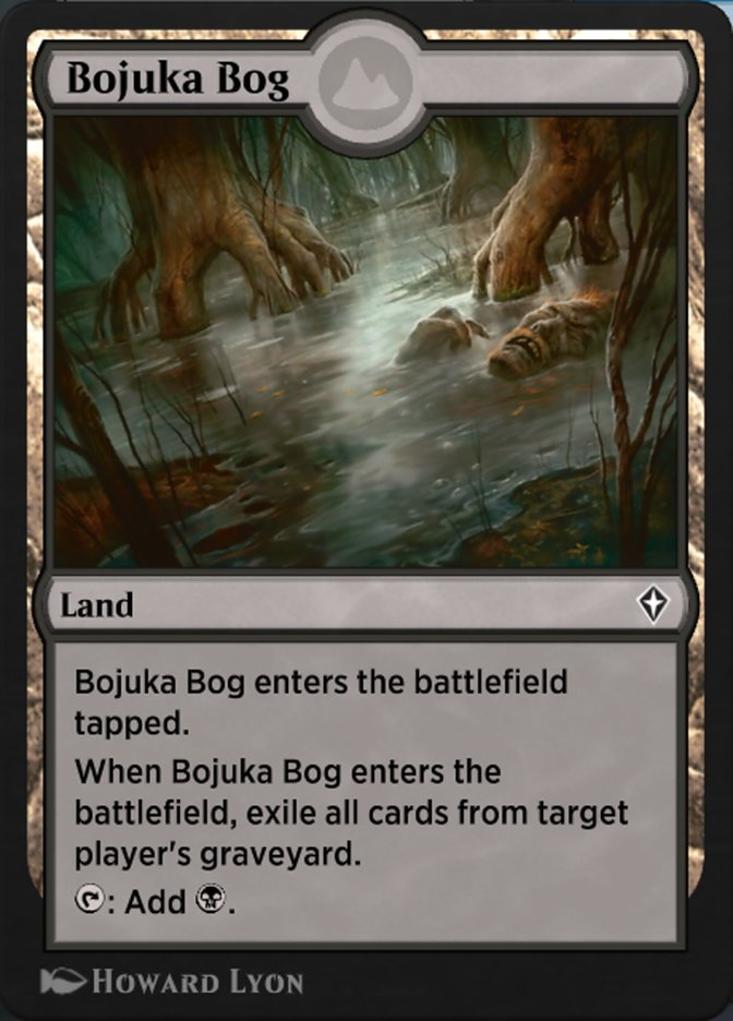 Carta Pântano de Bojuka/Bojuka Bog de Magic the Gathering