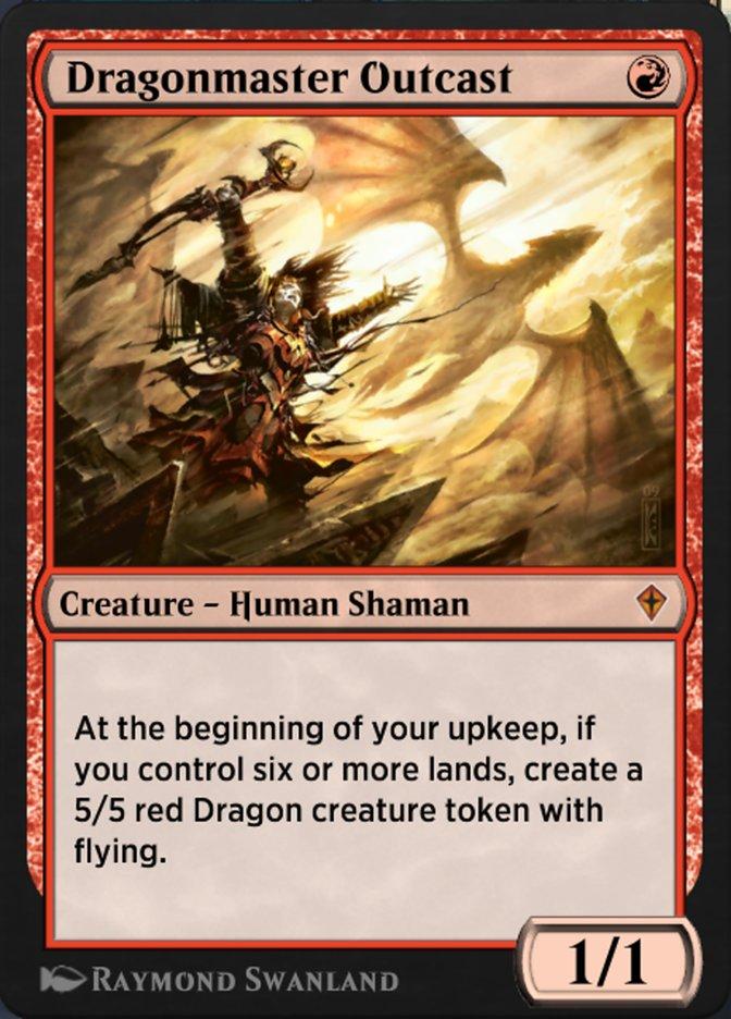 Carta Pária Mestre de Dragões/Dragonmaster Outcast de Magic the Gathering