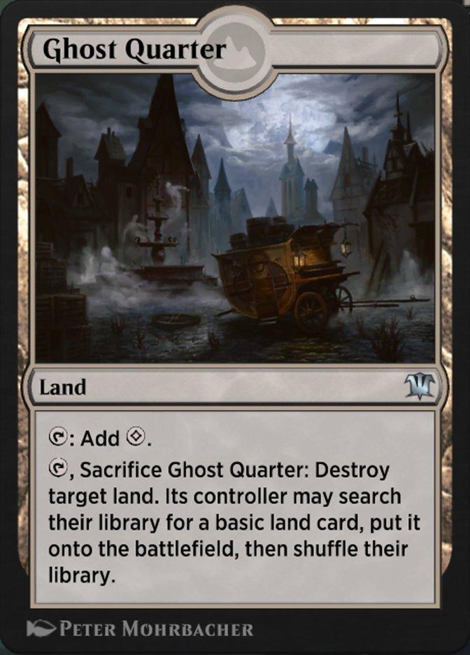 Carta Quarteirão Fantasma/Ghost Quarter de Magic the Gathering
