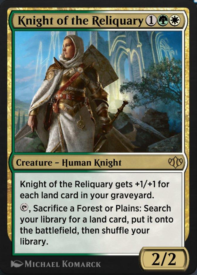 Carta Cavaleiro do Relicário/Knight of the Reliquary de Magic the Gathering
