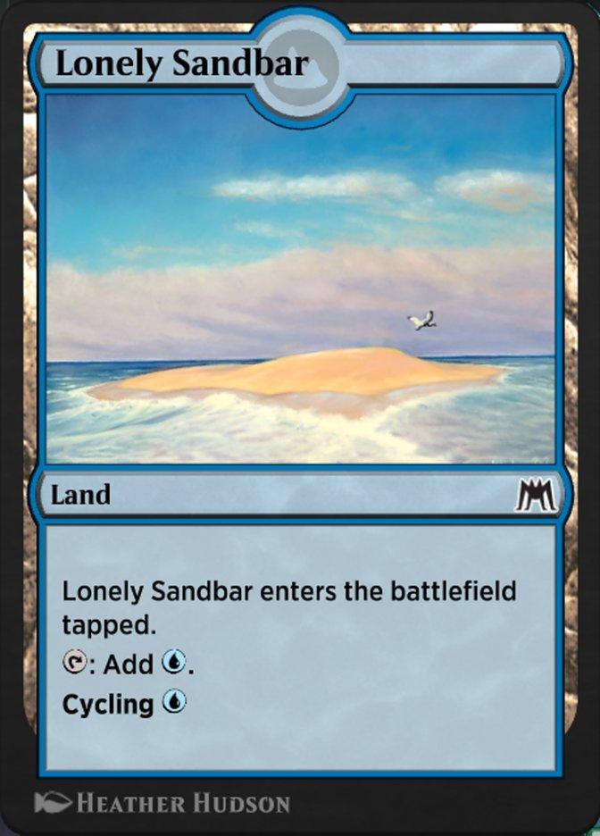 Carta Banco de Areia Isolado/Lonely Sandbar de Magic the Gathering