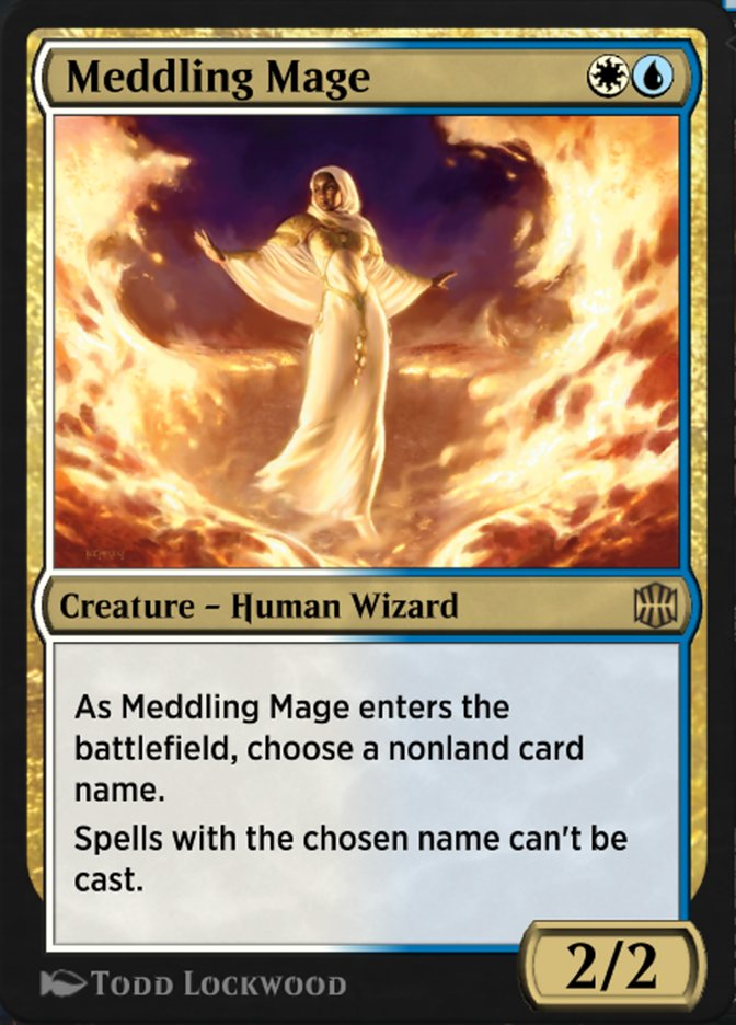 Carta Mago Interferidor/Meddling Mage de Magic the Gathering