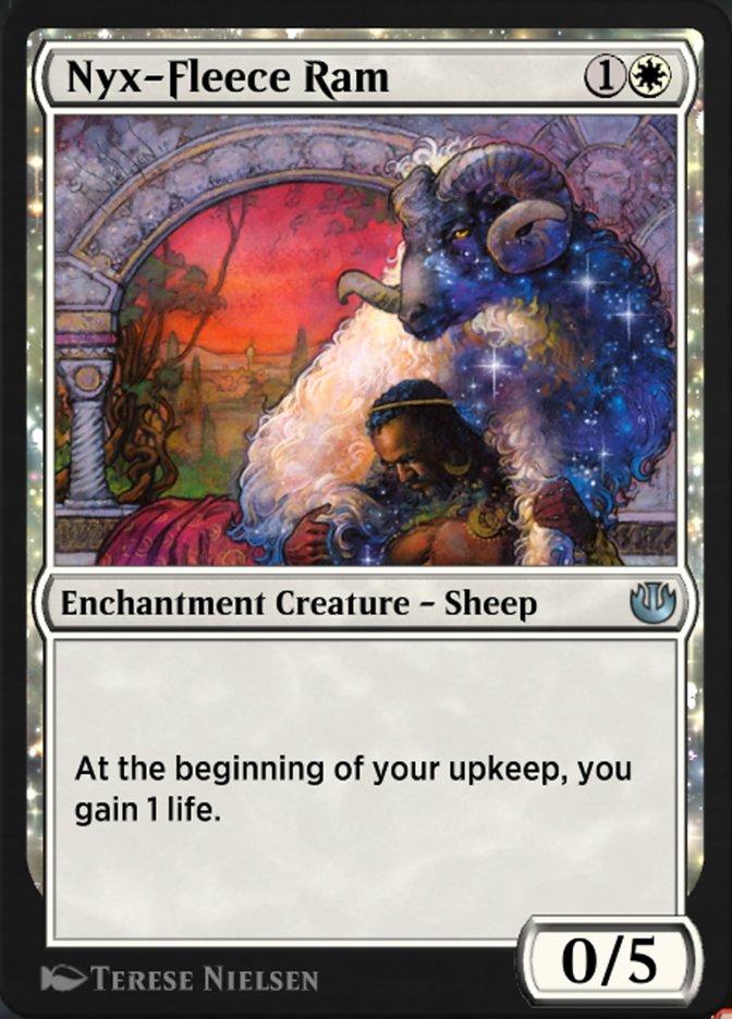 Carta Carneiro Velocino-de-Nyx/Nyx-Fleece Ram de Magic the Gathering