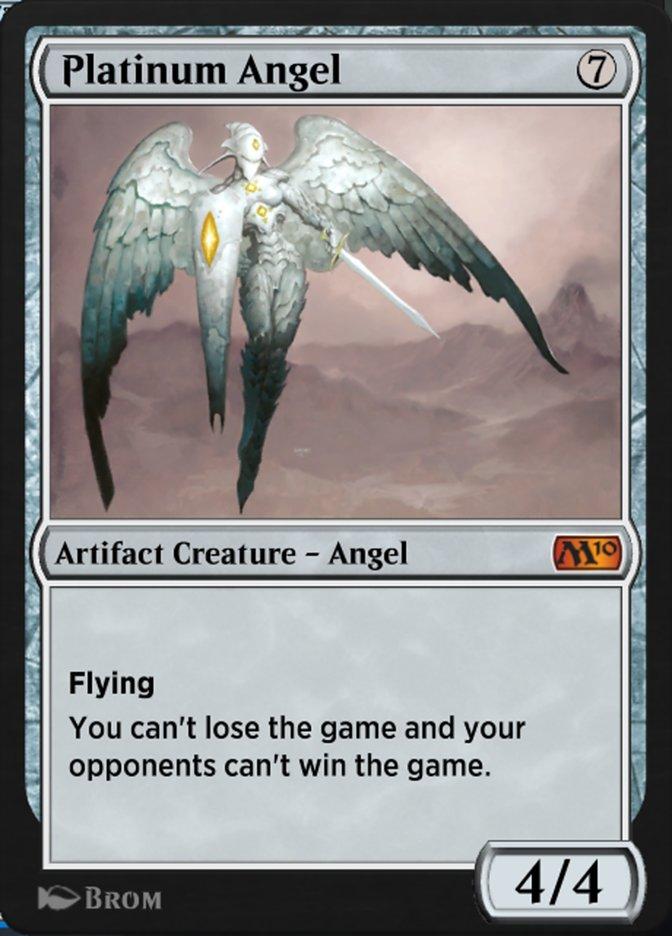 Carta Anjo de Platina/Platinum Angel de Magic the Gathering