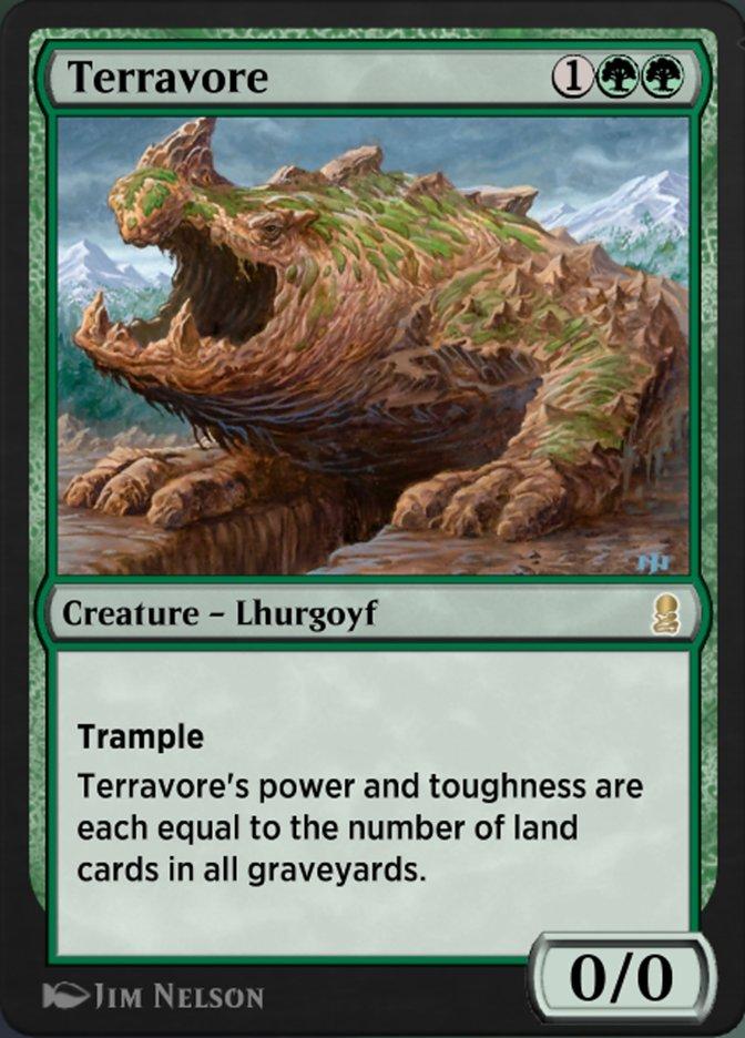 Carta Terrávoro/Terravore de Magic the Gathering