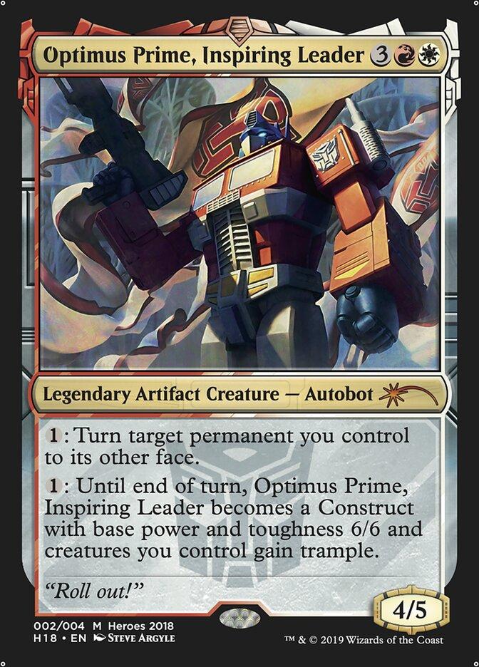 Carta /Optimus Prime, Inspiring Leader de Magic the Gathering
