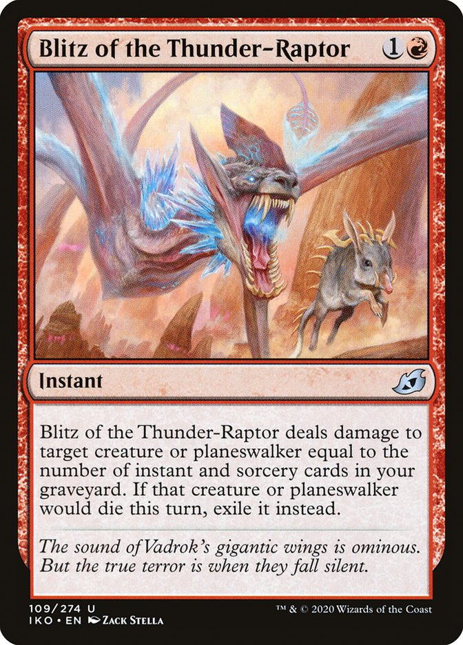 Carta Blitz do Raptor Tonante/Blitz of the Thunder-Raptor de Magic the Gathering