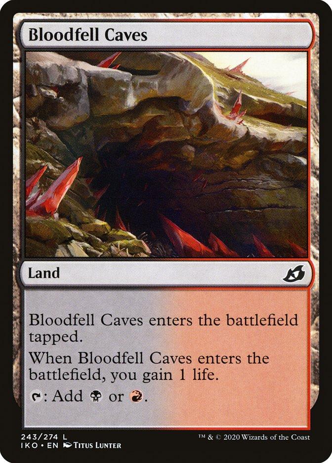 Carta Cavernas Sanguinárias/Bloodfell Caves de Magic the Gathering